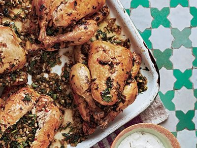Flavors: Poulet Stuffed with Herb-Infused Freekeh