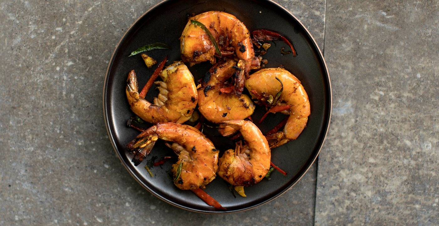 Flavors: Turmeric Shrimp with Curry Leaves