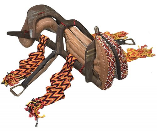 Two passenger camel saddle